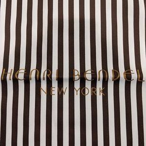 Henri Bendel dust bag Brown striped